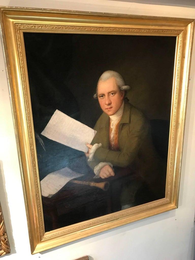 Portrait of the oboist John Parke (1745–1829) For Sale 3
