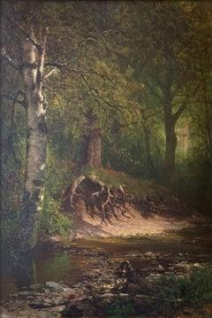 Artist's Brook, New Hampshire, White Mountains, Thomas Hill, Hudson River School
