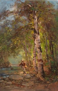 Fisherman in the Woods