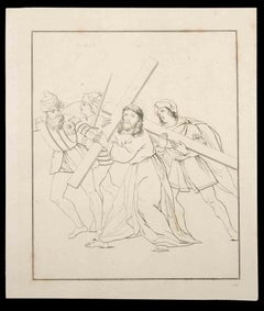 Carrying the Cross - Original Etching by Thomas Holloway - 1810