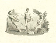 Exercise - Original Etching by Thomas Holloway - 1810