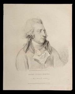 Henry Fuseli Esqrra - Original Etching by Thomas Holloway - 1810