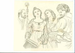 Historical Scene - Original Etching by Thomas Holloway - 1810