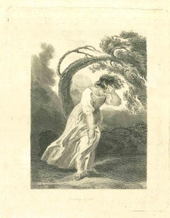 Lost in the Nature - Original Etching by Thomas Holloway - 1810