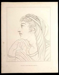 Mary Sister of Martha - Original Etching by Thomas Holloway - 1810