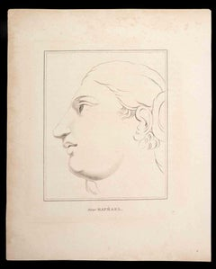 Portrait after Raphael - Original Etching by Thomas Holloway - 1810