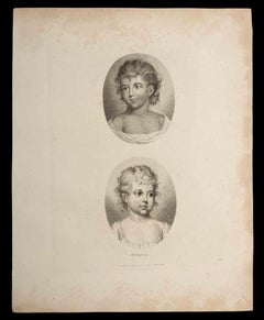 Portrait of a Child - Original Etching by Thomas Holloway - 1795