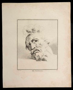 Portrait of Man after Raphael - Original Etching by Thomas Holloway - 1810