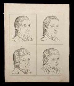 Portrait of men - Original Etching by Thomas Holloway - 1810