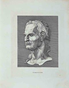 Portrait of Strength - Original Etching by Thomas Holloway - 1810