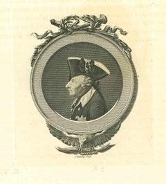Portrait - Original Etching by Thomas Holloway - 1810