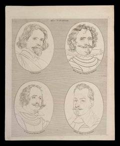 Portraits after Vandyke - Original Etching by Thomas Holloway - 1810