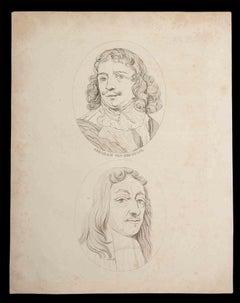 Portraits - Original Etching by Thomas Holloway - 1810