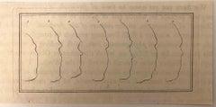 Profiles - Original Etching by Thomas Holloway - 1810