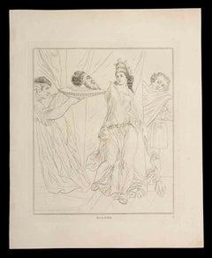 Salome - Original Etching by Thomas Holloway - 1810
