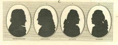 Silhouette - Original Etching by Thomas Holloway - 1810