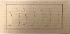 The Physiognomy - Profiles - Original Etching by Thomas Holloway - 1810