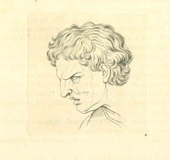The Physiognomy - The Anger - Original Etching by Thomas Holloway - 1810