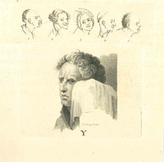 The Physiognomy - The Face - Original Etching by Thomas Holloway - 1810