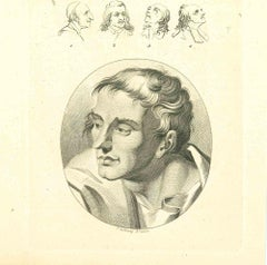 The Physiognomy - The Faces - Original Etching by Thomas Holloway - 1810