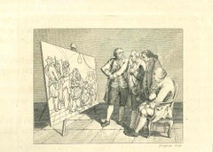 The Physiognomy -The Painting - Original Etching by Thomas Holloway - 1810