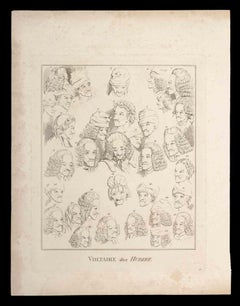 Voltaire after Hubert - Original Etching by Thomas Holloway - 1810