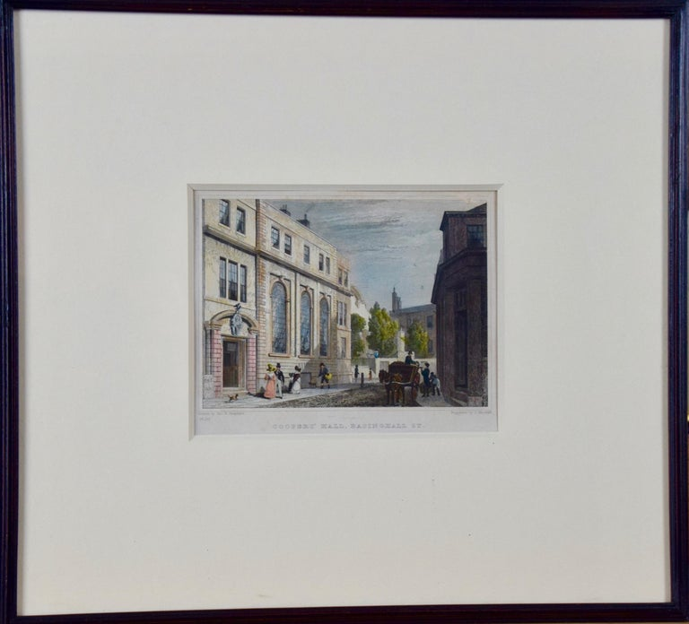 Three 19th C. Hand Colored Engravings of London Architecture by T. Shepherd For Sale 6