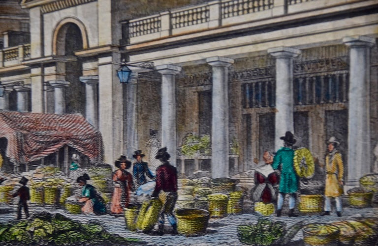 Three 19th C. Hand Colored Engravings of London Architecture by T. Shepherd For Sale 5