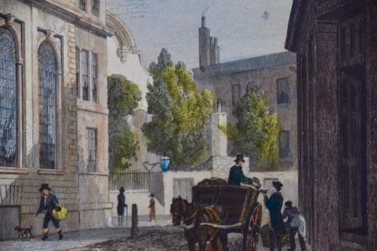 Three 19th C. Hand Colored Engravings of London Architecture by T. Shepherd For Sale 9