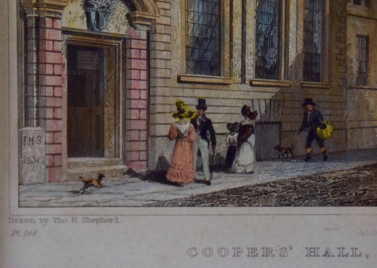 Three 19th C. Hand Colored Engravings of London Architecture by T. Shepherd For Sale 8