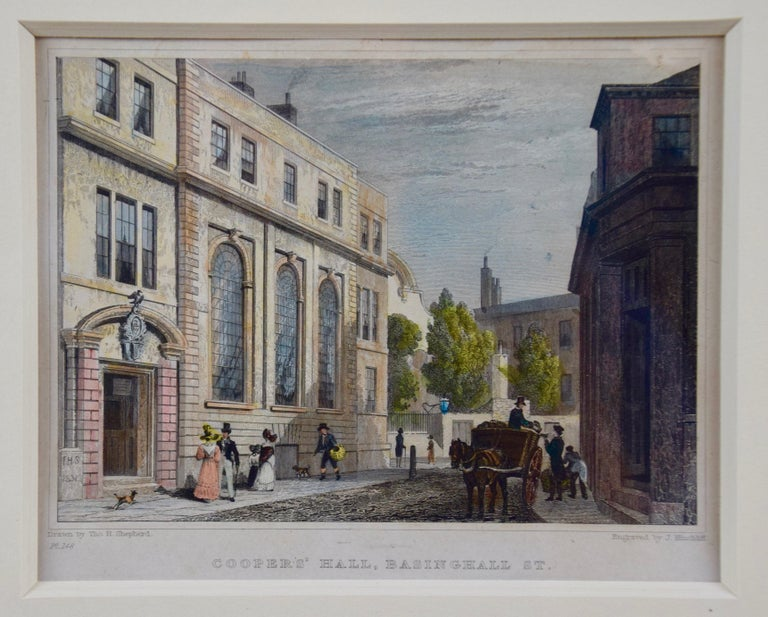 Three 19th C. Hand Colored Engravings of London Architecture by T. Shepherd For Sale 7