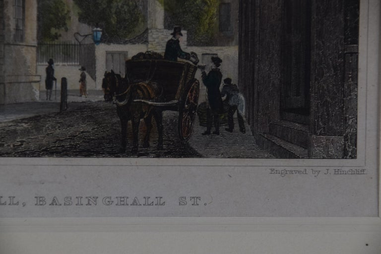 Three 19th C. Hand Colored Engravings of London Architecture by T. Shepherd For Sale 10