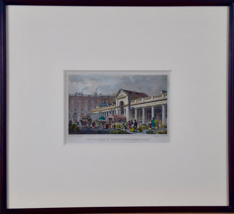 Three 19th C. Hand Colored Engravings of London Architecture by T. Shepherd For Sale 2