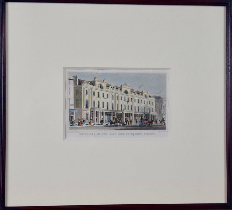Three 19th C. Hand Colored Engravings of London Architecture by T. Shepherd - Print by Thomas Hosmer Shepherd