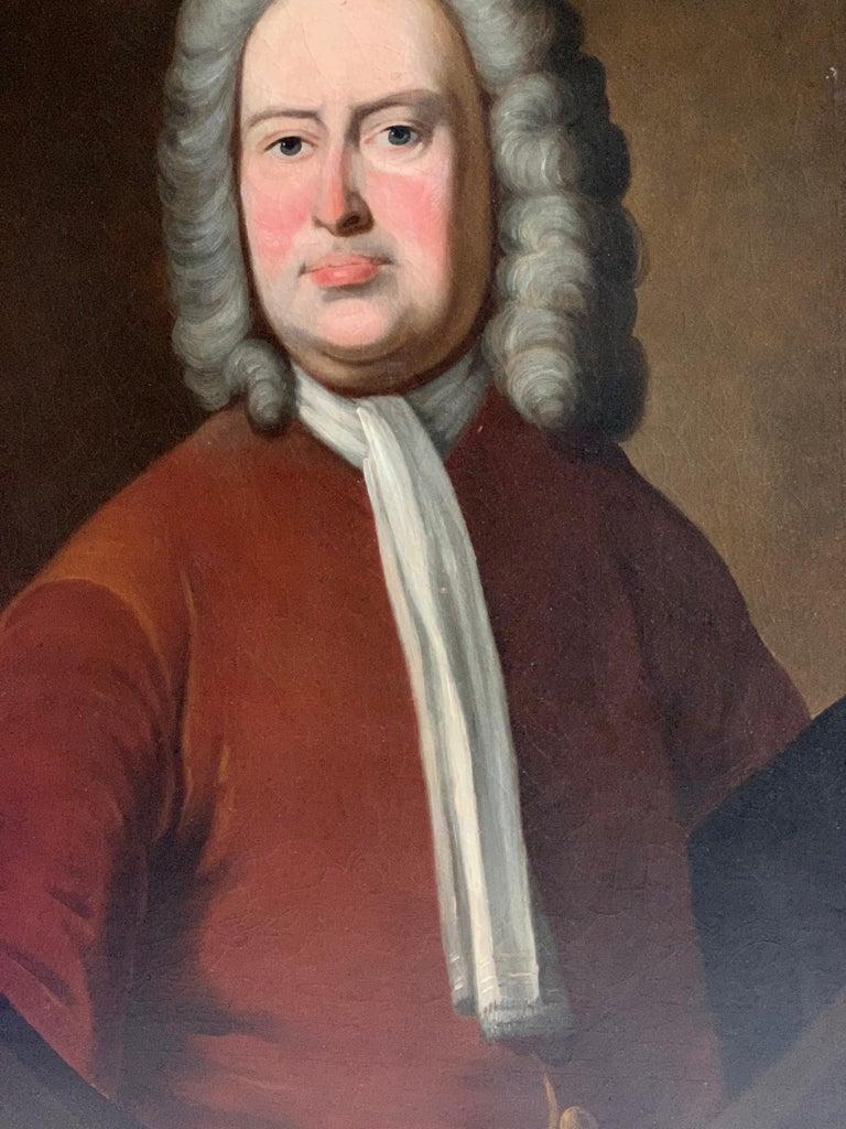 Portrait of an Aristocratic Gentleman in Crimson Velvet Jacket Oil Painting 1