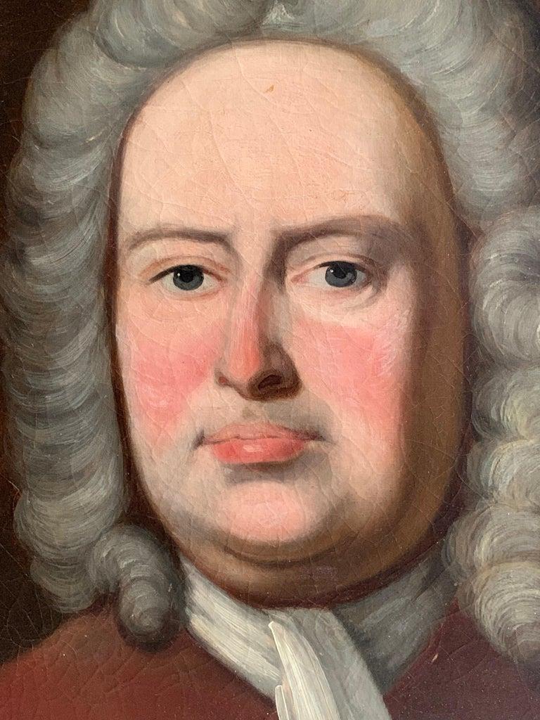 Portrait of an Aristocratic Gentleman in Crimson Velvet Jacket Oil Painting 2