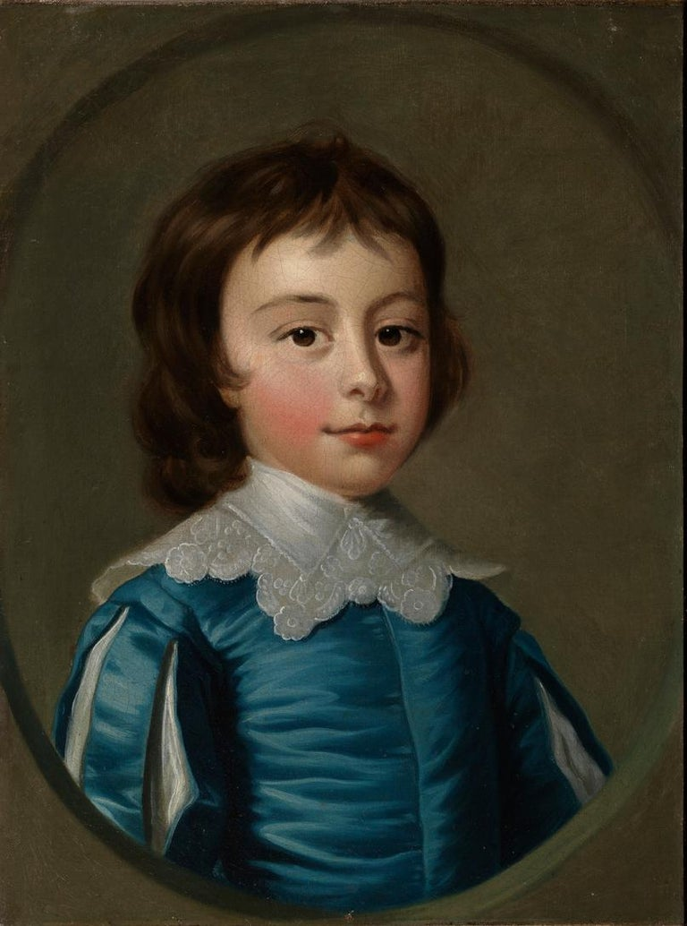 Thomas Hudson - Pair of portraits - 4th Duke of Beauforts children - Black Figurative Painting by Thomas Hudson