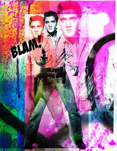 "Elvis Presley ""Blam"" inspired by Andy Warhol"