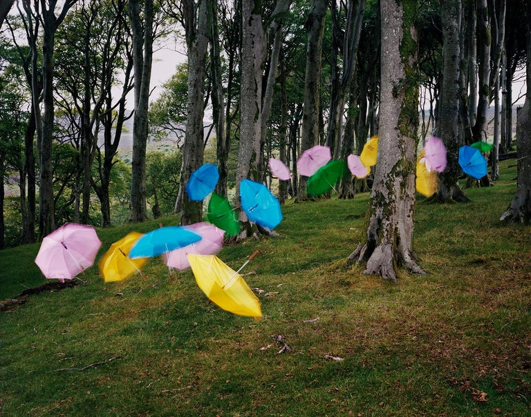 Thomas Jackson Color Photograph - Umbrellas no. 1, Druidale, Isle of Man