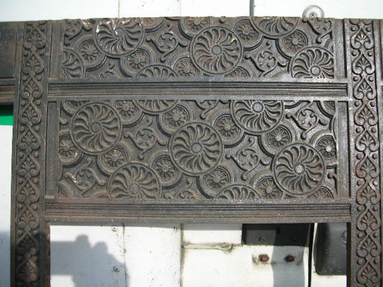 English Thomas Jeckyll, Aesthetic Movement Fire Insert, Made by Barnard Bishop & Barnard For Sale