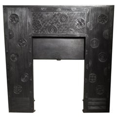 Thomas Jeckyll, an Aesthetic, Anglo Japanese Movement Cast Iron Fireplace Insert