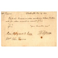 Thomas Jefferson Autograph Document Signed as President, Dated Dec 29, 1802