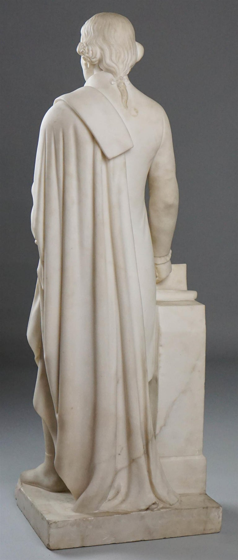 Federal Thomas Jefferson White Marble Figure Holding the Declaration of Independence For Sale