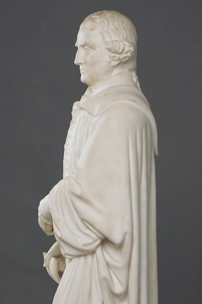Statuary Marble Thomas Jefferson White Marble Figure Holding the Declaration of Independence For Sale