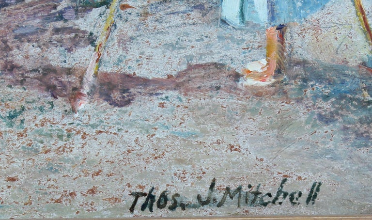 Antique American Impressionist Seascape Oil Painting