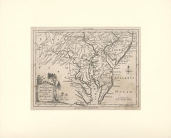 1757 Map of Maryland, Delaware Counties and the Southern part of New Jersey