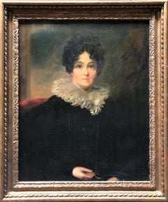 Portrait, Circle of Sir Thomas Lawrence, Oil Painting of Lady