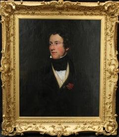 Portrait of a Gentleman - British Regency art 1820 male portrait oil painting