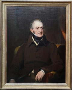 Portrait of a Seated Gentleman - British 19th century art portrait oil painting