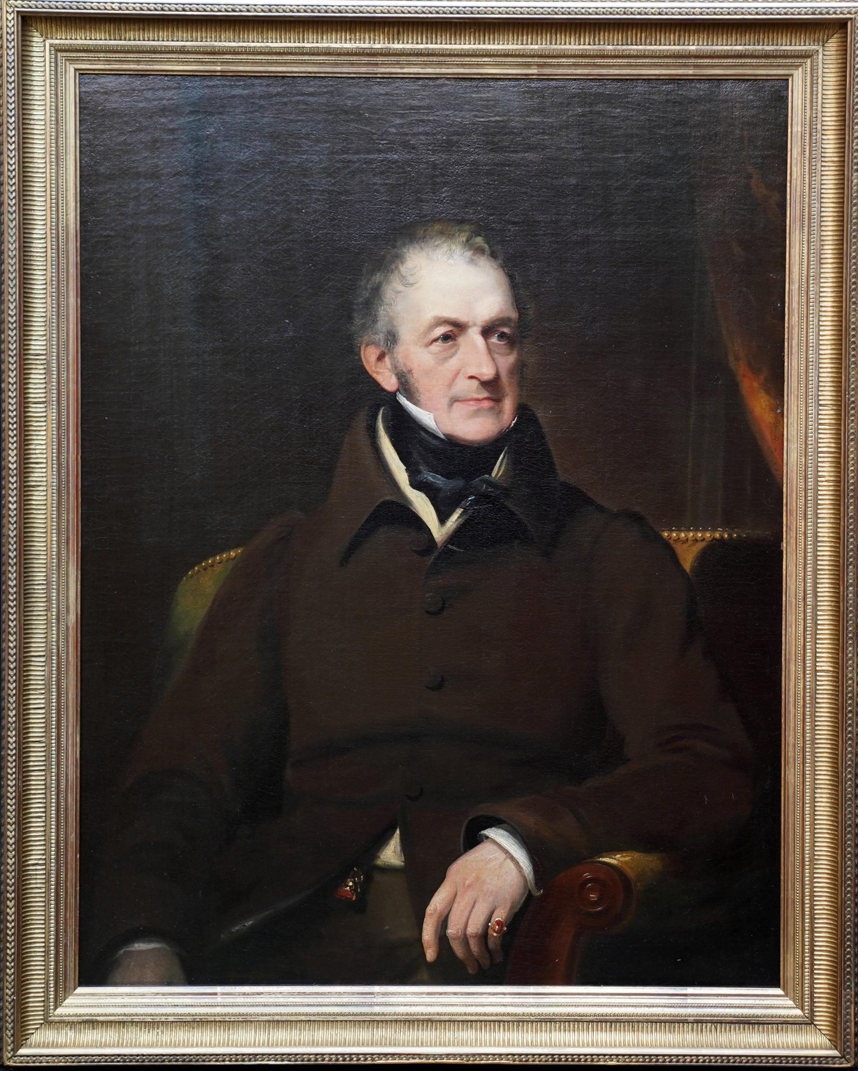 Portrait of a Seated Gentleman - British 19th century art portrait oil painting